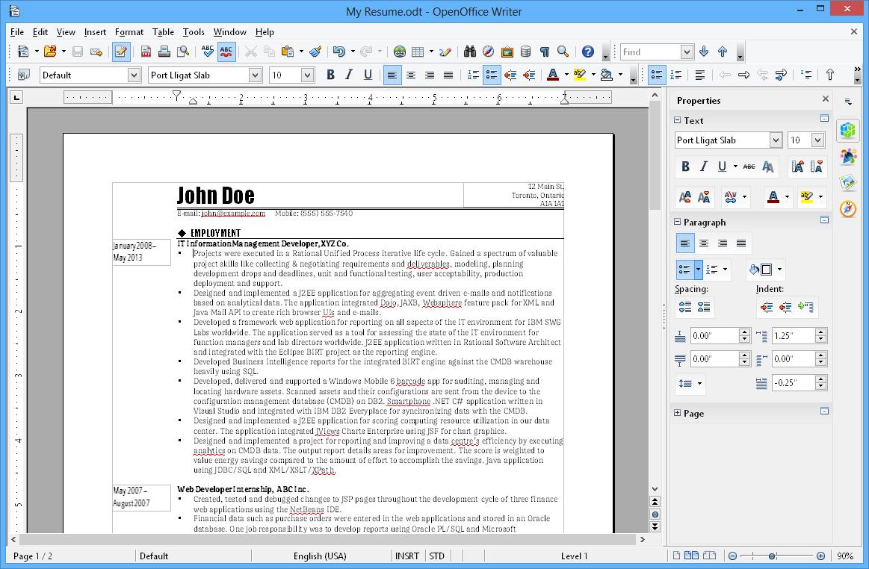 Openoffice writer : traitement de texte gratuit